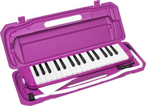 (ドレミシール付き)キョーリツ 鍵盤ハーモニカ メロディーピアノ P3001-32K/PP(パープル) MELODY PIANO P300132K PP
