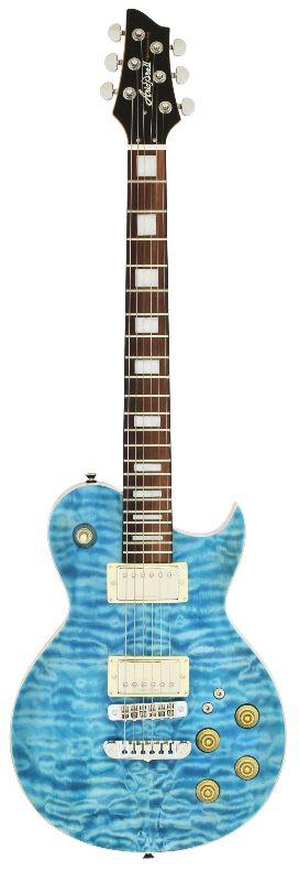 (在庫あり)(購入特典つき)AriaProII PE-480 SEBL(See-through Emerald Blue)アリアプロ2 エレキギター *ソフトケース付属