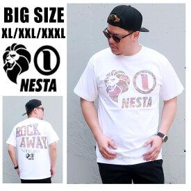 ネスタブランド 送料無料 メンズ 大きいサイズ Tシャツ ブランド XL XXL XXXL 2L 3L 4L ビックサイズ キングサイズ 白 ホワイト 半袖 ネスタ ストリート アメカジ 春 夏 インナー おしゃれ オススメ 大人 30代 40代 50代 192NB1008