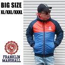 FRANKLIN&MARSHALL 送料無料 大きいサイズ メンズ ブランド XL XXL 3XL 2L 3L 4L アウター ナイロン ダウン 中綿 ライトアウター リバーシブル 春 秋 冬 インポート フランクリンアンドマーシャル JKMF543AN