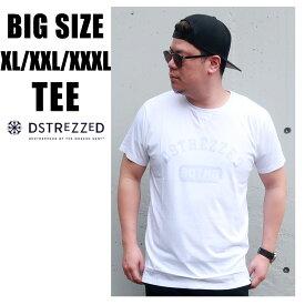送料無料 メンズ 大きいサイズ Tシャツ ブランド 半袖 XL XXL XXXL 3L 4L 5L プリント uネック 丸首 春 夏 秋 インポート 海外ブランド DSTREZZED カジュアル アメカジ ストリート 大人 30代 40代 50代 202404 ホワイト 白