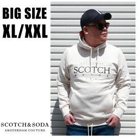 SCOTCH&SODA 送料無料 大きいサイズ メンズ ブランド パーカー スウェット XL XXL 2L 3L プリント プルオーバー 裏起毛 秋 冬 春 大人 30代 40代 50代 スコッチ&ソーダ 282-83825