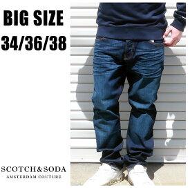 SCOTCH&SODA 送料無料 大きいサイズ メンズ ブランド パンツ デニム 34 36 38 デニムパンツ ラルストン ストレッチ 秋 冬 春 夏 大人 30代 40代 50代 210-85506