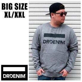 送料無料 メンズ 大きいサイズ ブランド ドクターデニム スウェット XL XXL 2L 3L トレーナー グレー DRDENIM インポート 海外ブランド 国内正規品 【1731132】 Grey Logo