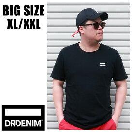 【送料無料】 メンズ 大きいサイズ ブランド ドクターデニム Tシャツ XL XXL 2L 3L 半袖 プリント ロゴ ワンポイント DRDENIM インポート 海外ブランド 国内正規品 161131 Small Black Logo