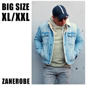 ZANEROBE ゼンローブ 送料無料 大きいサイズ メンズ ブランド アウター ボア Gジャン XL XXL 2L 3L デニム デニムジャケット ストリート アメカジ ブルー 秋 冬 春 インポート 海外ブランド 国内正規品