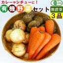 【送料無料】 有機野菜 セット 3品目 カレー用 お得セット 家庭用 野菜セット 無農薬