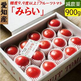 愛知産 高糖度 フルーツトマト みらい 約1キロ 糖度約10度以上!送料無料