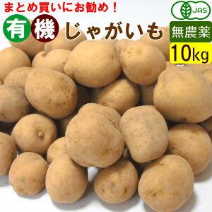 【送料無料】【無農薬】有機じゃがいも 一箱(10キロ) 不揃い オーガニック まとめ買い 馬鈴薯