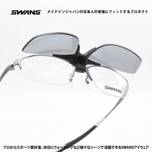 SWANS スワンズSWF900-0000CP GMR 度付き対応跳ね上げ式サングラスマットガンメタリック/スモーク偏光
