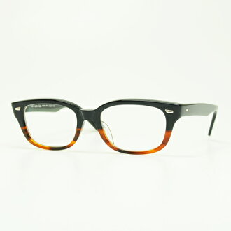 masunaga eyeglass frames bright 39 kooki 003 bk half black clear lens
