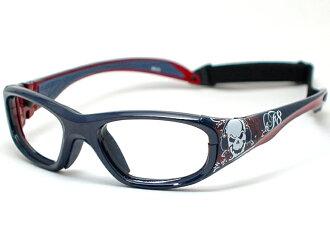Kid's用度付きレンズ対応スポーツメガネ.供体育风镜Lec·规格小孩使用的眼镜★RECSPECS-MORPHS-SKUL/莫法斯★(深蓝双桨划艇)体育眼镜