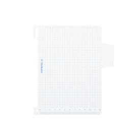 【公式通販 DELFONICS(デルフォニックス)】ロルバーンポケット付メモL用 下敷き(ブルー)