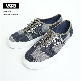 VANS MENS バンズ メンズ Authentic【VN0A38EMMOY/VN-0A38EMMOY】(Denim Patchwork) Navy/True White オーセンティック/メンズスニーカー・靴2017SP
