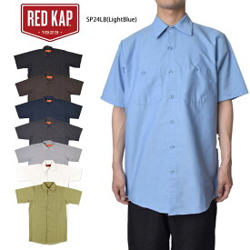 RED KAPレッドキャップ【SP24LB / SP24BK / SP24CB / SP24NV / SP24CH / SP24SV】SHORT SLEEVE INDUSTRIAL WORK SHIRTメンズ 半袖 シャツワークウェア インダストリアル ワークシャツ