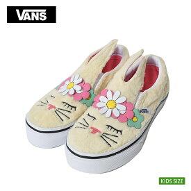 VANS KIDS SP'19バンズ キッズ【VN0A3MVYVJ8】SLIP-ON BUNNY(Flower Crown) Vanilla Custardスリッポン バニーうさぎ お花 子供 靴 スニーカー