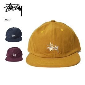 STUSSY/ステューシー(131874)Washed Oxford Strapbackストラップバック メンズ帽子 キャップ ロゴ