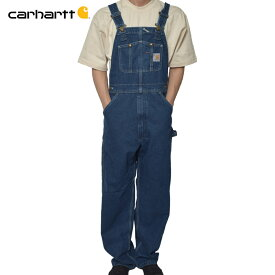 Carharttカーハート【R07】Washed Denim Bib OverallsDarkstoneメンズ オーバーオール ワークウェア サロペット つなぎ デニム
