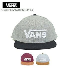 VANS APPARELバンズ アパレル【VN0A36ORHGB/VN0A36ORKRJ/VN0A36ORHTH】DROP V II SNAPBACKドロップV2 スナップバック 1.HEATHER GREY/BLACK 2.PORT ROYALE/RUBBER 3.HEATHERメンズ キャップ 帽子