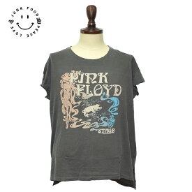 メール便発送JUNK FOOD/ジャンクフード【12WS004-P1462】Pink Floyd Teeピンク フロイド TシャツVintage Black ビンテージ ブラックレディース 半袖 Tシャツ グレー
