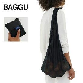 メール便BAGGU バッグ バグゥMESH /メッシュ 【Black】 ブラックエコバッグ/ナイロンバッグショッピングバッグ トートバッグ ビーチバッグ ワンショルダー
