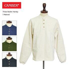【CAMBER】THREE BUTTON HENLEY#964【キャンバー】MENS/ヘンリーネック/長袖Tシャツ
