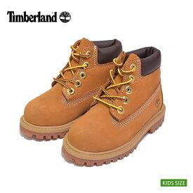 (再入荷)Timberland/ティンバーランド 【TB12809】Timberland 6inch Premium Boot Wheat Nubuck6インチ プレミアム ウォータープルーフ ブーツWHEAT NUBUCK/ウィート ヌバック/キッズ・子供用・靴 防水