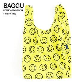【メール便】BAGGU バッグSTANDARD /スタンダード【YELLOW HAPPY】イエローハッピーエコバッグ/ナイロンバッグショッピングバッグ/トートバッグ