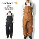 Carharttカーハート【R37】Zip To Thigh Bib OverallsCarhartt Brown/Blackメンズ オーバーオール ワークウェ...