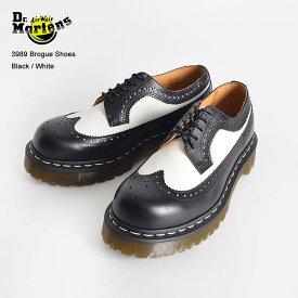 Dr.Martensドクターマーチン【10458001/398996016】3989 BROGUE SHOESBlack/Whiteブローグシューズメンズ レディース 靴