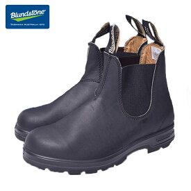 【再入荷】BLUNDSTONE (ブランドストーン)#558 VOLTAN BLACK ボルタンブラックメンズサイドゴアブーツ ショートブーツ