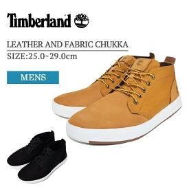 Timberland ティンバーランド TB0A1OI3231 TB0A10I5001 Davis Square Leather and Fabric Chukka メンズ シューズ 靴 スニーカー Wheat Nubuck カーキ ホワイト Black Nubuck ブラック ヌバック