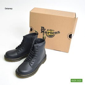 ★【再入荷】Dr.Martens KIDSドクターマーチン キッズ【R15382001】DM J LACE BOOTBLACK/ブラックエンジニアブーツキッズ・子供用ブーツ