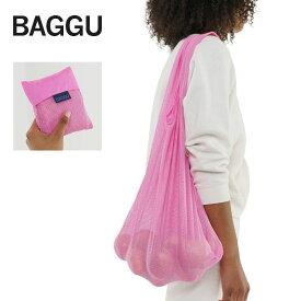 メール便BAGGU バッグ バグゥMESH /メッシュ 【Bright Pink】 ブライト ピンクエコバッグ/ナイロンバッグショッピングバッグ トートバッグ ビーチバッグ ワンショルダー