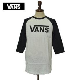 【メール便】VANS APPARELバンズ アパレル【VN0002QQYB2】VANS CLASSIC RAGLANラグラン 長袖 メンズ ロゴ WHITE/BLACK 白 黒