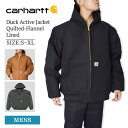 CARHARTTカーハート【J140】Men's Duck Active Jacket Quilted-Flannel Lined メンズ ダック アクティブ ジャケット …