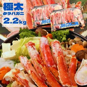 タラバガニ 超特大2肩! ポーション 正味 2.2kg (1.1kg x2パック) (1パック当たり、グレース入り1.3kg以上)特大 カニ 生食用 2肩 ボイル 冷凍 たらば蟹 たらばがに ボイルタラバガニ 蟹 送料無料