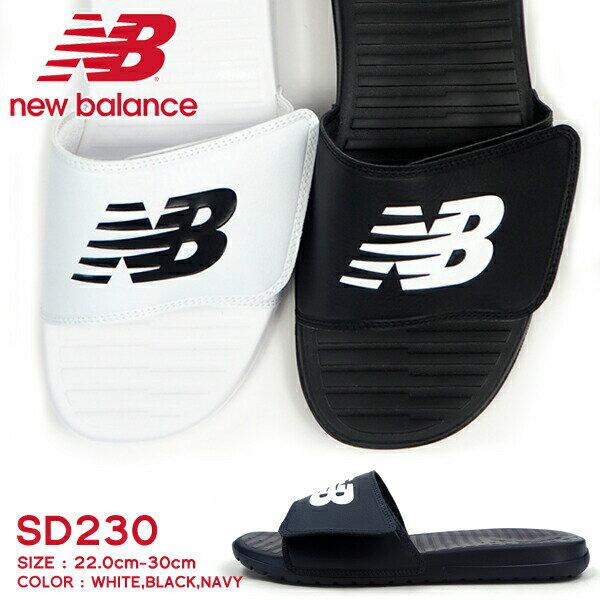 【即納】new balance ニューバランス スポーツサンダル SD230 WT BK メンズ レディース プール 海水浴
