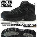 トレッキングシューズ メンズ ウィンブルドン M047WS 防水 ウォーキング ミッドカット 幅広 4E 耐滑 外反母趾 WIMBLED…