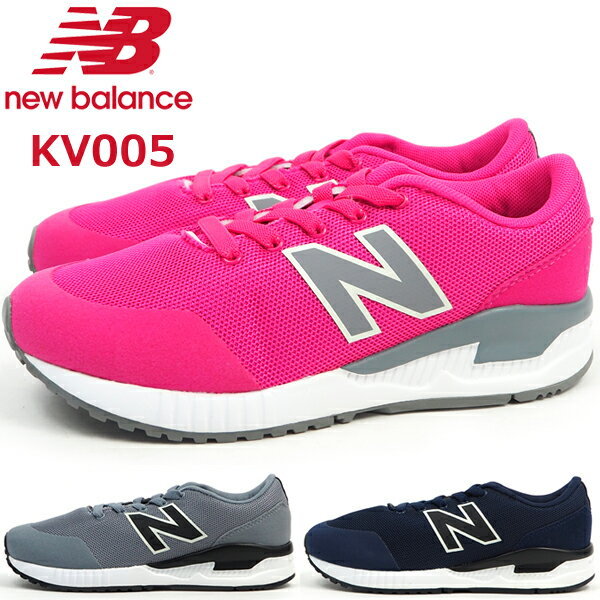 【即納】 ニューバランス new balance スニーカー KV005 GBY NBY PWY キッズ スリッポン 通学履き ジョギング マラソン