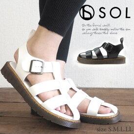 【特価】サンダル レディース SOL ソル 19836 ベルトサンダル カジュアル