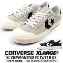 コンバース CONVERSE スニーカー XL CHEVRONSTAR PC TWST R OX メンズ シェブロンスター ローカット スエード 白 黒 エクストララージ コラボ スケートボードシューズ