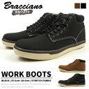 ワークブーツ メンズ ブラッチャーノ Bracciano BR7579 防水ブーツ 防水 防滑 冬靴 ウィンターブーツ メンズブーツ