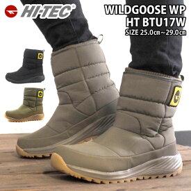 ハイテック HI-TEC ブーツ WILDGOOSE WP HT BTU17W メンズ レディース 雨 雪 冬 ウィンターブーツ 防水 防寒 保温性 あたたかい アウトドア