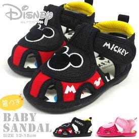 ディズニー Disney ベビーサンダル 7713 7714 キッズ ミッキー ミニー 笛つき ベビーシューズ 軽量 男の子 女の子