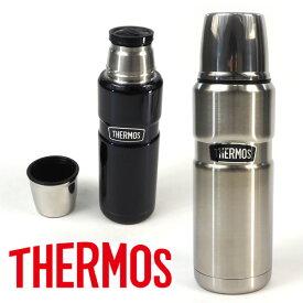 サーモス THERMOS 水筒 ステンレスコップボトル ROB-002 アウトドア用品 保冷・保温 キャンプ用品 運動会 体育祭 魔法びん 丸洗い可能