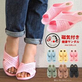 おたふく お多福 OTAFUKU サンダル 婦人いきいきXメッシュ レディース つっかけ 日本製 国産 歩きやすい 履きやすい 血行促進 健康サンダル