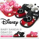 【送料無料】Disney ディズニー ベビーサンダル キッズ 全2色 DS4131 ミッキーマウス ミニーマウス 笛付きサンダル 軽…