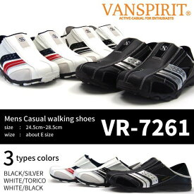 VANSPIRIT ヴァンスピリット スニーカー メンズ 全3色 VR-7261 コンフォート クロッグ ウォーキング ムレ防止 軽量 2WAY