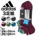 adidasアディダスソックスメンズ全2色06768W靴下スニーカーソックスショートアンクルソックス3点セットスポーツ男性紳士ジュニア福助フクスケ